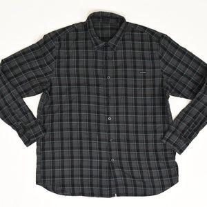 Oakley Big & Tall XXL Gray   Button Down Cotton Pl